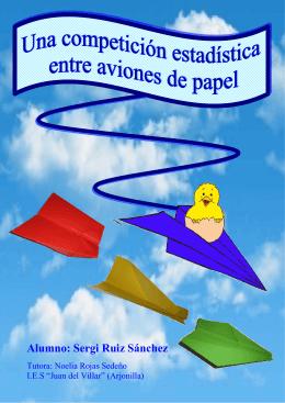 Una competición estadística entre aviones de papel con fondo