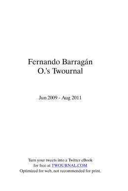 Fernando Barragán O.`s Twournal