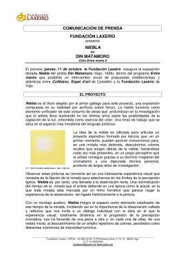 COMUNICACIÓN DE PRENSA FUNDACIÓN LAXEIRO NIEBLA DIN