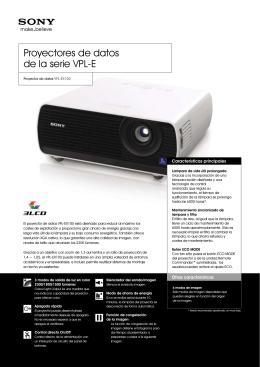 Proyector de datos VPL-EX100