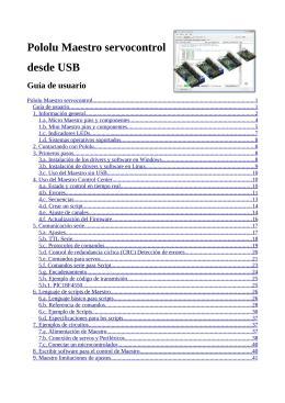 Pololu Maestro Servo Controller User`s Guide
