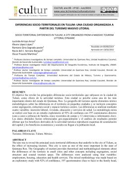 diferencias socio-territoriales en tulum: una ciudad