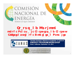 Dominican-Republic-IANAS - DR Energy Sector (CNE
