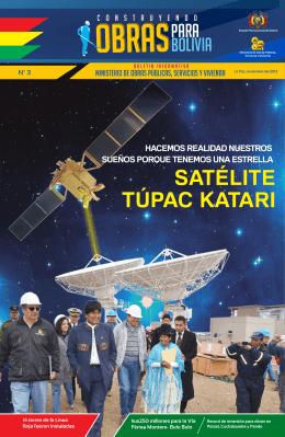 SATÉLITE TÚPAC KATARI - Ministerio de Obras Públicas Servicios