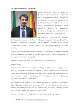 CV de VICENTE FERNÁNDEZ GUERRERO por Carmen Romero