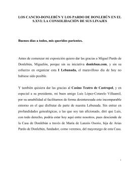 LOS CANCIO-DONLEBÚN Y LOS PARDO DE DONLEBÚN EN EL S