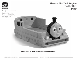 Thomas The Tank Engine Toddler Bed 8450