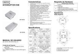 INTERRUPTOR KVM MANUAL DE USUARIO Características