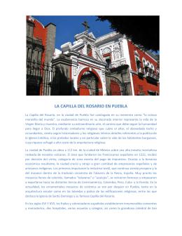 LA CAPILLA DEL ROSARIO EN PUEBLA