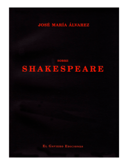 sobre Shakespeare - jose maria alvarez