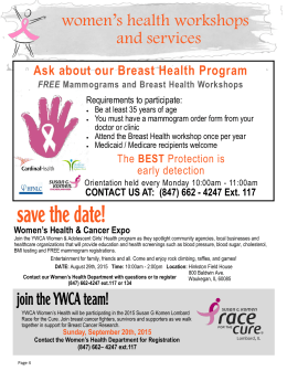 women`s health workshops and services