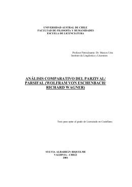 Análisis comparativo del Parzival/Parsifal
