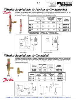 Válvulas Reguladoras de Presión de Condensación