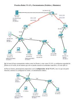 Practica Redes VLAN y Enrutamientos (Estático y Dinámico)