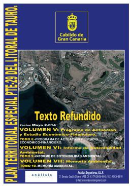 Texto Refundido - Planes Territoriales de Gran Canaria