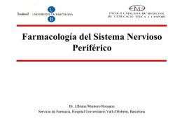 Farmacología del Sistema Nervioso Periférico