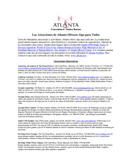 Las Atracciones de Atlanta Ofrecen Algo para Todos