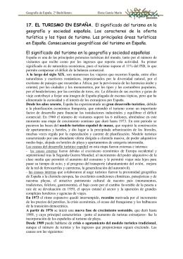 17. EL TURISMO EN ESPAÑA. El significado del