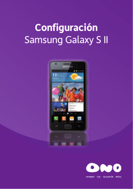 Configuración Samsung Galaxy S II