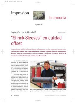 """""""Shrink-Sleeves"""" en calidad offset impresión"""