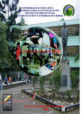 Bibliotecas del SIBDI - Biblioteca de la Universidad de Costa Rica