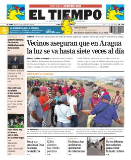 Vecinos aseguran que en Aragua la luz se va hasta siete