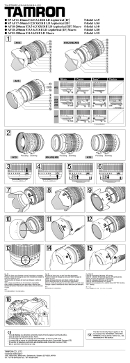 Tamron A13 A15 Instruction Manual Spanish 1010