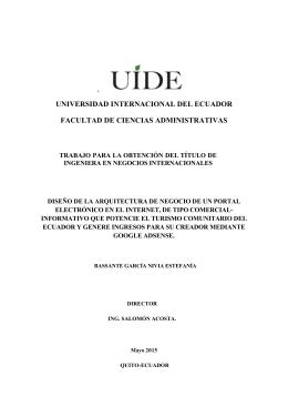 Proyecto de Titulación - Repositorio Digital UIDE