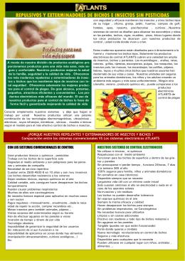 Catálogo general productos ATLANTS . El control de plagas