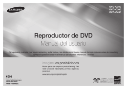 Reproductor de DVD Manual del usuario