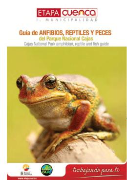 anfibios, reptiles y peces del parque nacional cajas