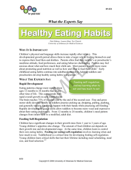 Healthy Eating Habits - TIPS For Great Kids!