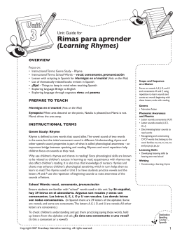 Rimas para aprender (Learning Rhymes)