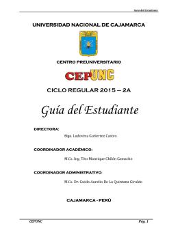 Guia del estudiante 2015-2A - Universidad Nacional de Cajamarca