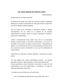 Las venas abiertas de América Latina - Eleutheria