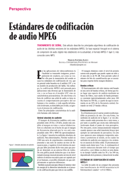 Estándares de codificación de audio MPEG