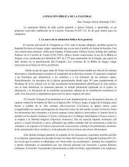 ANIMACIÓN BÍBLICA DE LA PASTORAL Hno. Enrique García