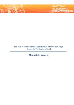 Manual de usuario - Sede Electrónica