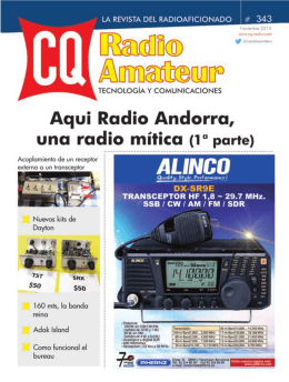 CQ Radio Amateur - nº 343 - FEDI-EA
