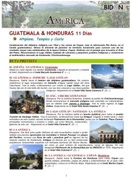 Guatemala&Honduras. Altiplano, Templos y Costa