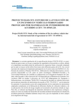 Proyecto Railcen: estudio de la evolución de un