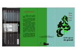 folleto de Amigos Museo Eugenio Granell