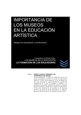 IMPORTANCIA DE LOS MUSEOS EN LA EDUCACIÓN ARTÍSTICA