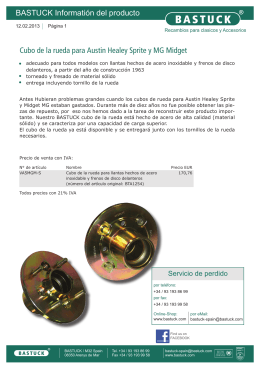 BASTUCK Informatión del producto Cubo de la rueda para Austin