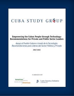 Apoyo al Pueblo Cubano a través de la Tecnología