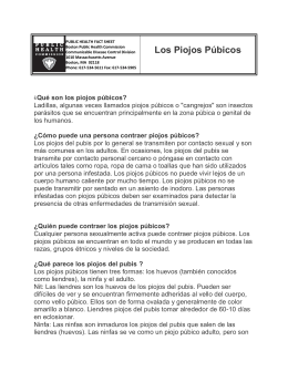 Los Piojos Púbicos - Boston Public Health Commission