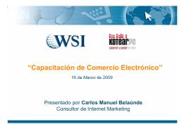 """Capacitación de Comercio Electrónico"""