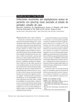 Infecciones recurrentes por staphylococcus aureus en paciente con