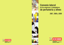 Convenio laboral de perfumería y afines