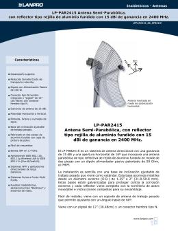 LP-PAR2415 Antena Semi-Parabólica, con reflector tipo rejilla de